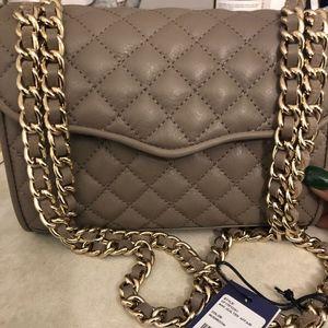 Grey Quilted Mini Rebecca Minkoff bag